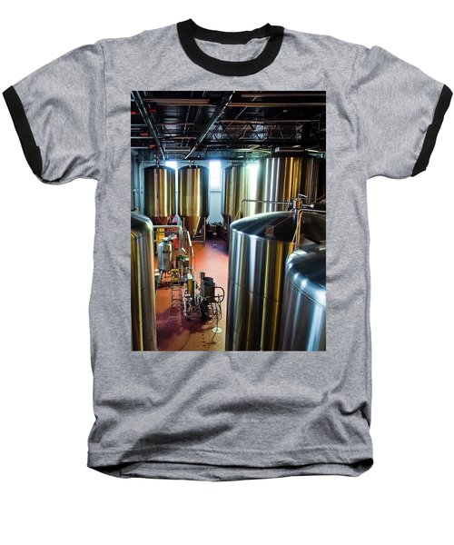 Baseball T-Shirt featuring the photograph Beer Vats by Linda Unger