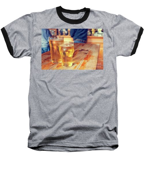 Baseball T-Shirt featuring the photograph Beers In A Pub by Patricia Hofmeester