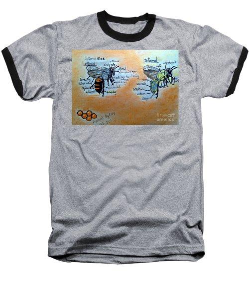 Bees  Baseball T-Shirt by Francine Heykoop