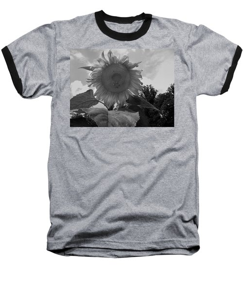 Baseball T-Shirt featuring the digital art Bees On A Sunflower by Chris Flees