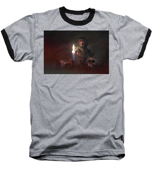 Baseball T-Shirt featuring the photograph Beethoven By Candlelight by Tom Mc Nemar