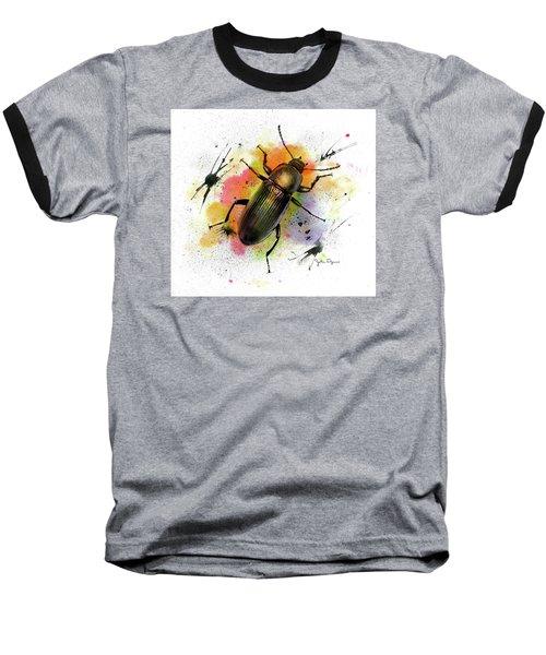 Beetle Illustration Baseball T-Shirt