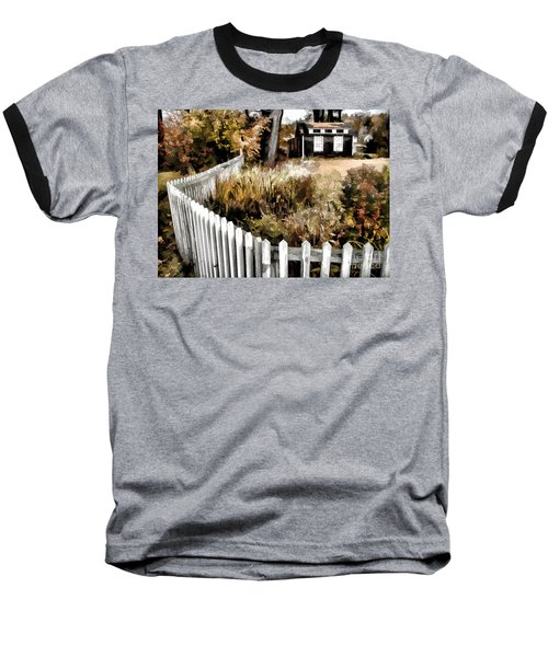 Before Snow Flies Baseball T-Shirt by Betsy Zimmerli