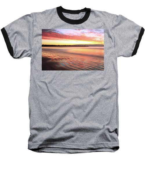 Baseball T-Shirt featuring the photograph Before Sunrise At First Beach by Roupen  Baker