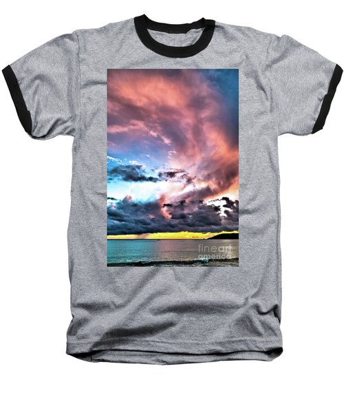 Before The Storm Avila Bay Baseball T-Shirt by Vivian Krug Cotton
