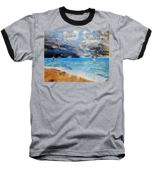 Baseball T-Shirt featuring the painting Before The Storm by Vicky Tarcau