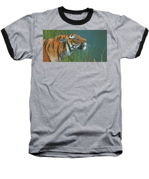Baseball T-Shirt featuring the painting Beggars Day by Mike Brown
