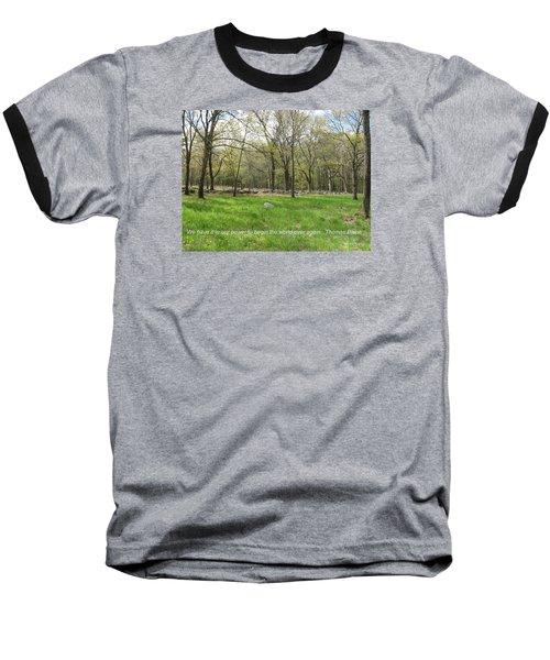 Begin The World Over Again Baseball T-Shirt by Deborah Dendler