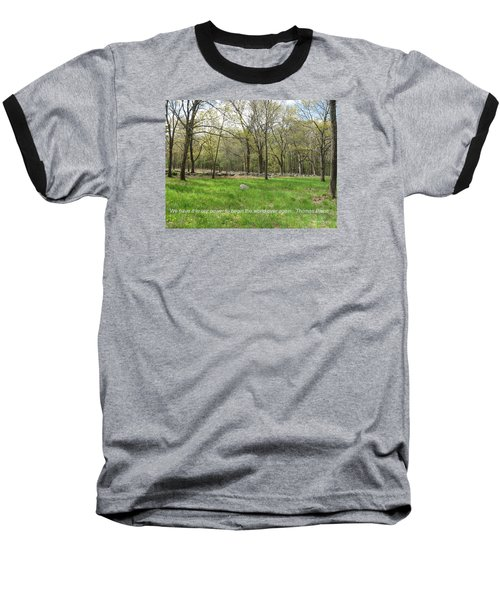 Begin The World Over Again Baseball T-Shirt