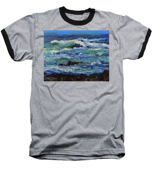 Baseball T-Shirt featuring the painting Beginning Of A Storm by Walter Fahmy