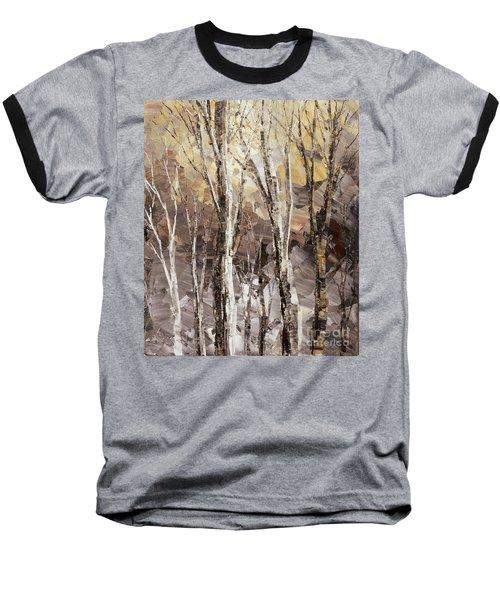 Baseball T-Shirt featuring the painting Beginning by Tatiana Iliina