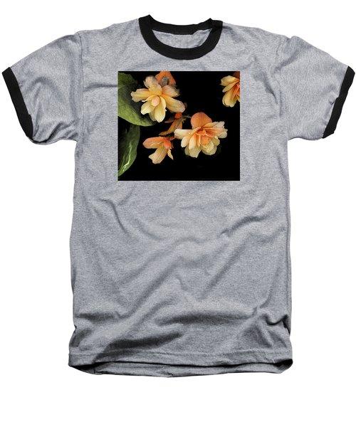 Begonias 2 Baseball T-Shirt by Janis Nussbaum Senungetuk