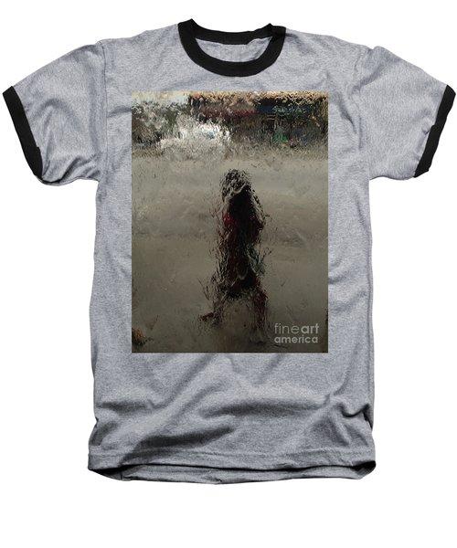 Behind Glass Baseball T-Shirt by Trena Mara