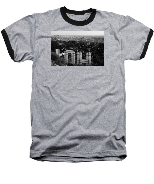 Behind Hollywood Bw Baseball T-Shirt