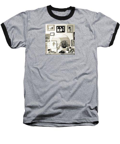 Baseball T-Shirt featuring the photograph Behind The Barber Chair by Joe Jake Pratt