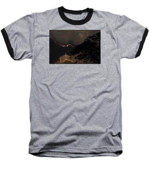 Behind The Cloud Baseball T-Shirt by Kiran Joshi