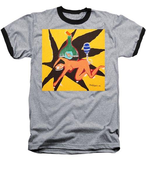 Behind The Curtain Baseball T-Shirt by Jose Rojas