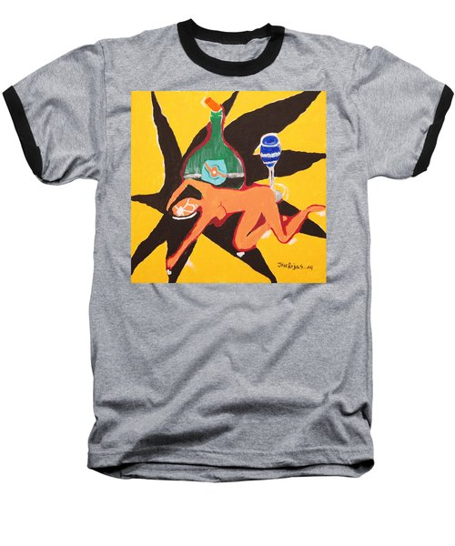 Behind The Curtain Baseball T-Shirt