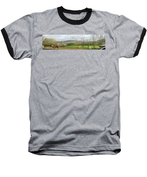 Baseball T-Shirt featuring the photograph Behind The Dillard House Restaurant by Jerry Battle