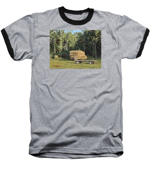 Behind The Grove Baseball T-Shirt by Bruce Morrison