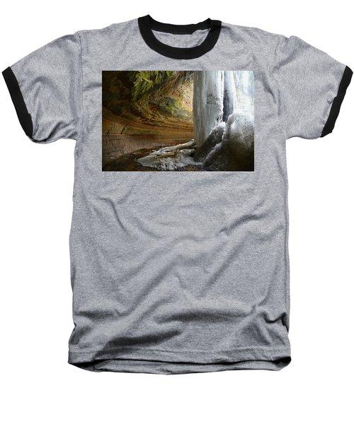 Behind The Ice Falls Baseball T-Shirt