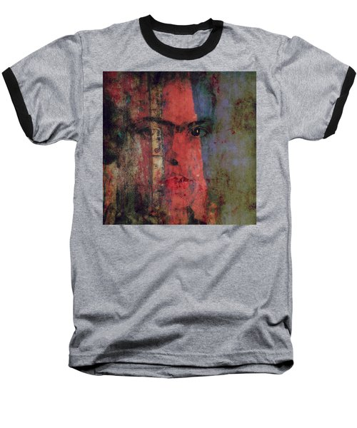 Baseball T-Shirt featuring the painting Behind The Painted Smile by Paul Lovering