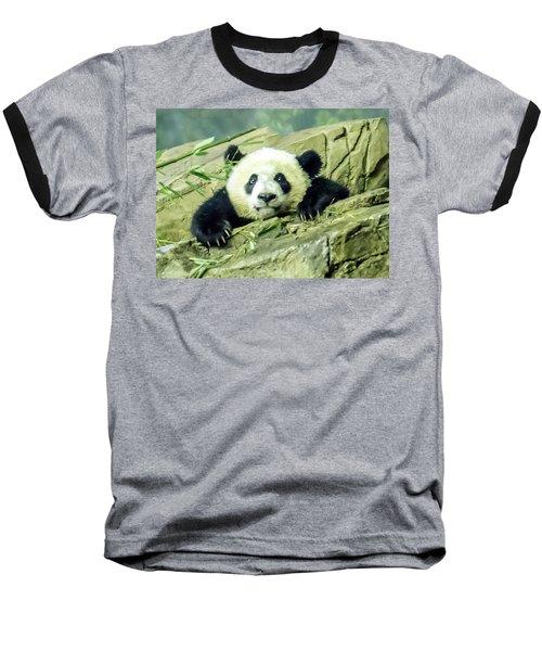 Bei Bei Panda At One Year Old Baseball T-Shirt