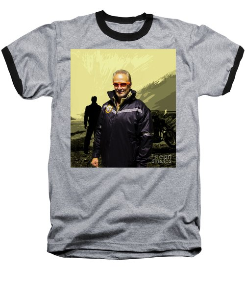Baseball T-Shirt featuring the photograph Being In The Movie IIi by Al Bourassa