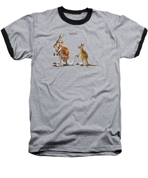 Being Tailed Baseball T-Shirt by Rob Snow