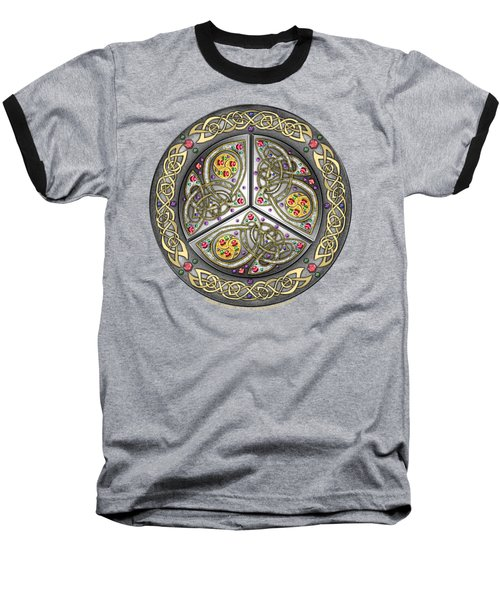 Bejeweled Celtic Shield Baseball T-Shirt