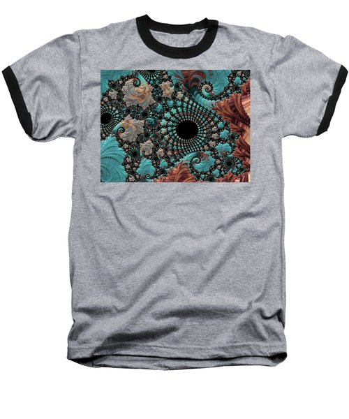 Baseball T-Shirt featuring the digital art Bejeweled Fractal by Bonnie Bruno