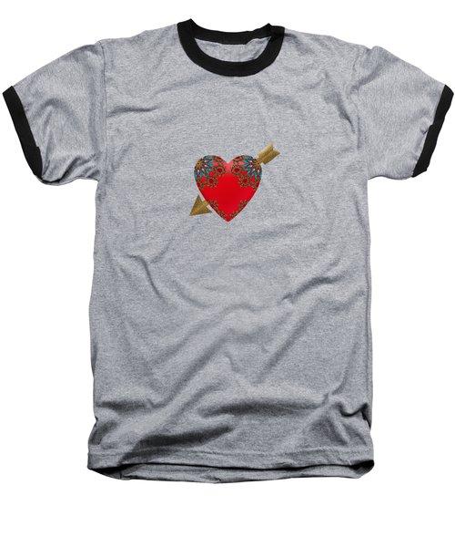 Bejewelled Heart Baseball T-Shirt