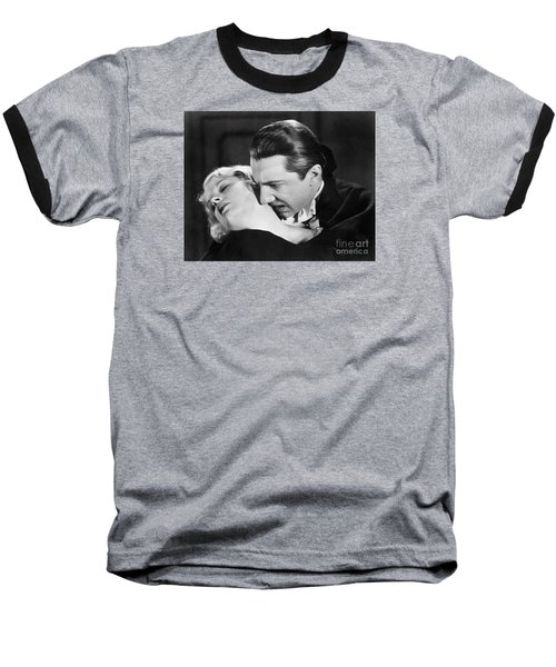 Bela Lugosi  Dracula 1931  Feast On Mina Helen Chandler Baseball T-Shirt
