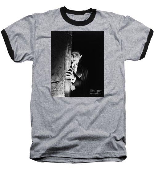 Bela Lugosi Dracula Baseball T-Shirt by R Muirhead Art