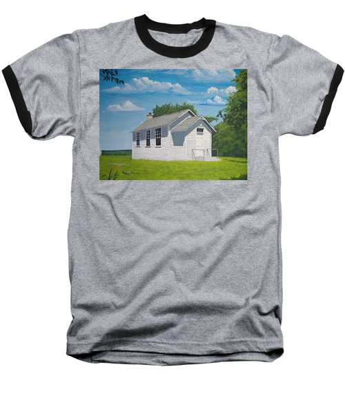 Baseball T-Shirt featuring the painting Belding School by Norm Starks