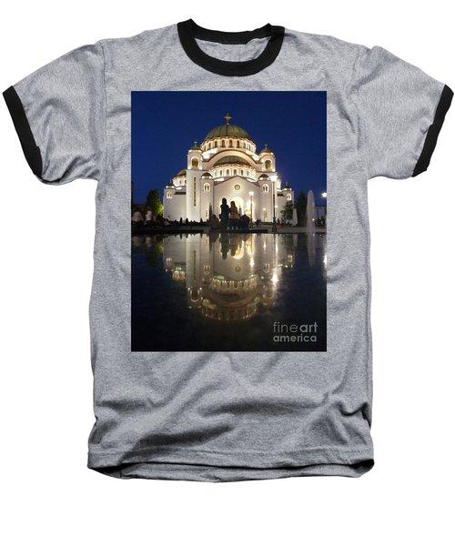 Baseball T-Shirt featuring the photograph Belgrade Serbia Orthodox Cathedral Of Saint Sava  by Danica Radman