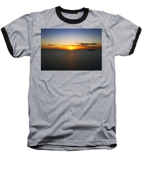 Belize Sunset Baseball T-Shirt by Marlo Horne