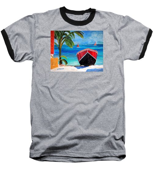 Baseball T-Shirt featuring the painting Belizean Dream by Janet McDonald