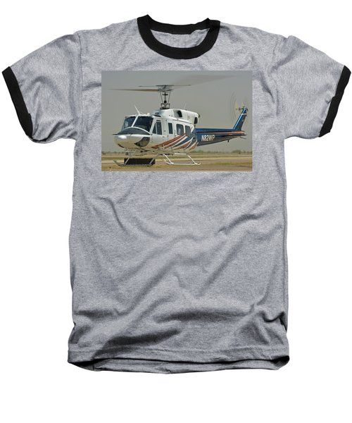 Baseball T-Shirt featuring the photograph Bell 212 N82wp Phoenix-mesa Gateway Airport Arizona April 15 2016 by Brian Lockett