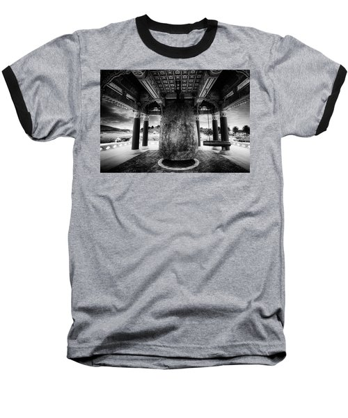 Baseball T-Shirt featuring the photograph Bell Of Friendship B W  by Joseph Hollingsworth