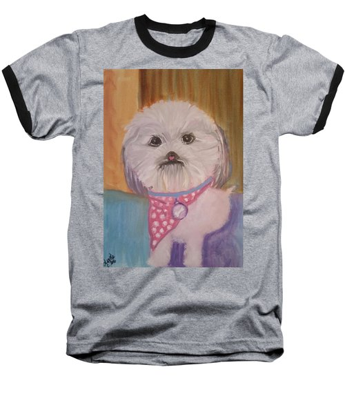 Baseball T-Shirt featuring the painting Bella Baby by Carol Duarte