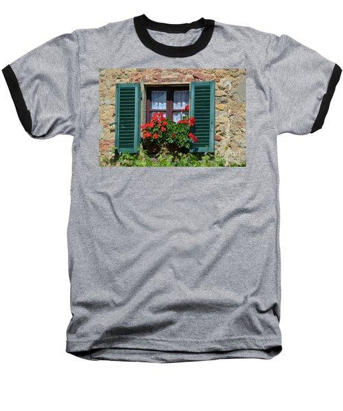 Bella Italian Window  Baseball T-Shirt