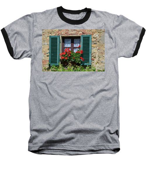 Bella Italian Window  Baseball T-Shirt