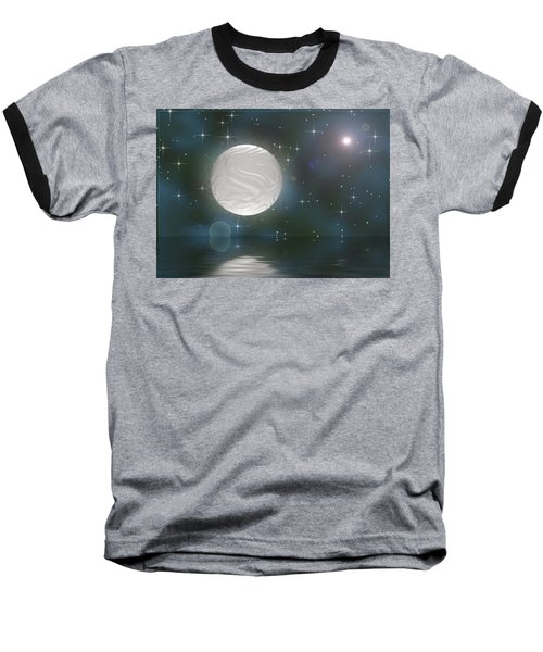 Baseball T-Shirt featuring the digital art Bella Luna by Wendy J St Christopher
