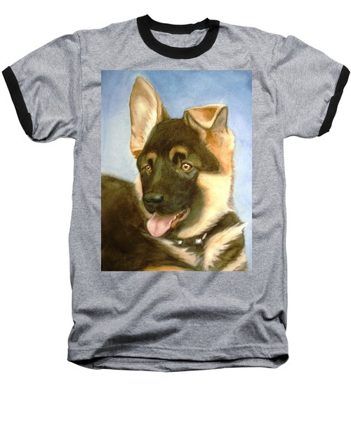 Baseball T-Shirt featuring the painting Bella by Marilyn Jacobson