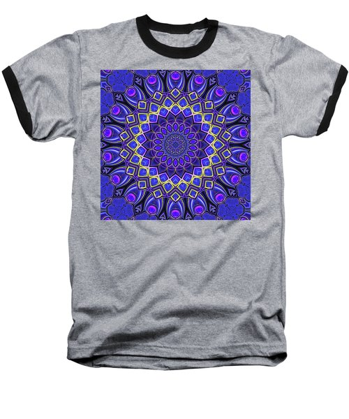 Baseball T-Shirt featuring the digital art Bella - Purple by Wendy J St Christopher