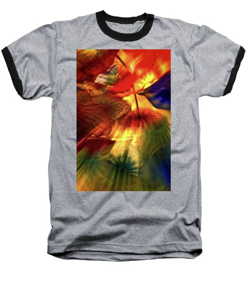 Bellagio Ceiling Sculpture Abstract Baseball T-Shirt by Stuart Litoff