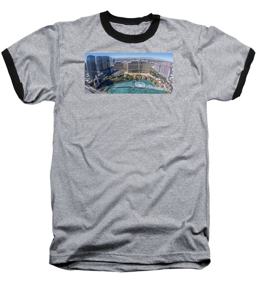 Baseball T-Shirt featuring the photograph Bellagio Fountains In The Afternoon by Aloha Art