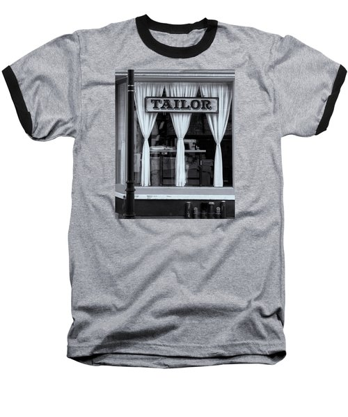 Bellows Falls Tailor Baseball T-Shirt by Tom Singleton