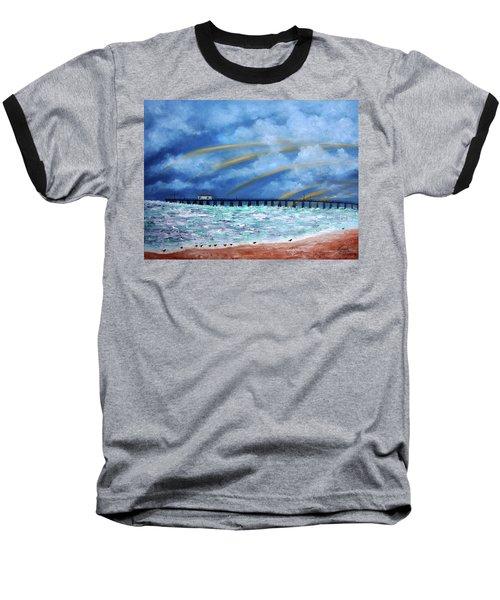 Belmar's Fishing Pier Baseball T-Shirt